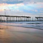 Broken Dreams - Frisco Pier Outer Banks I Poster by Dan Carmichael