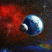 Broken Moon Poster by Murphy Elliott