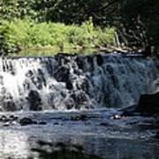 Bronx River Waterfall Poster by John Telfer