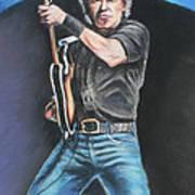 Bruce Springsteen  Poster by Melinda Saminski
