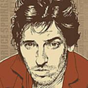 Bruce Springsteen Pop Art Poster by Jim Zahniser