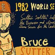 Bruce Sutter St Louis Cardinals Poster by Jay Perkins