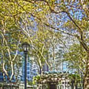Bryant Park Afternoon Poster by Richard Trahan