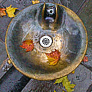 Bryant Park Fountain In Autumn Poster by Gary Slawsky