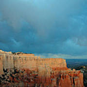 Bryce Canyon And Stormy Sky Poster by Bruce Gourley