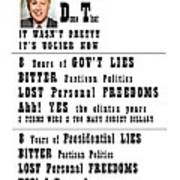 Btdt Lies And More Lies Poster by Kevin Snider