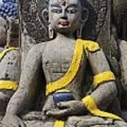 Buddha Figure In Kathmandu Nepal Poster by Robert Preston