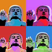 Buddha Pop Art - 4 Panels Poster by Jean luc Comperat