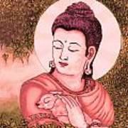 Buddha Red  Poster by Loganathan E