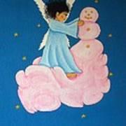 Building A Cloudman Poster by Pamela Allegretto