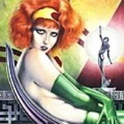Burn Clara Bow Opus 7 Poster by Paul Petro