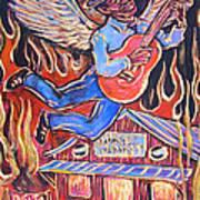 Burnin' Blue Spirit Poster by Robert Ponzio