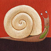 Business Snail Painting Poster by Christy Beckwith