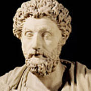 Bust Of Marcus Aurelius Poster by Anonymous