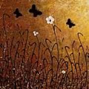 Butterflies Landscape Poster by Carmen Guedez