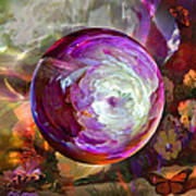 Butterfly Garden Globe Poster by Robin Moline