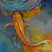 Butterfly Koi Poster by Michael Creese