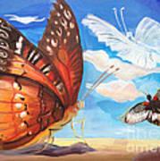 Butterfly Paysage 2 Poster by Art Ina Pavelescu