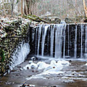 Buttermilk Falls 2 Poster by Anthony Thomas