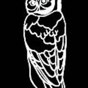 Bw Owl Poster by Amy Sorrell