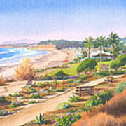 Cactus Garden At Powerhouse Beach Poster by Mary Helmreich