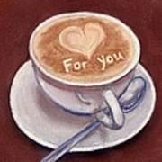 Caffe Latte Poster by Anastasiya Malakhova