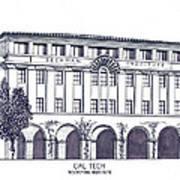 Cal Tech Beckman Poster by Frederic Kohli