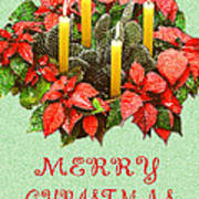 California Cactus Christmas Poster by Mary Helmreich