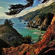 California Coastline Poster by Benjamin Yeager