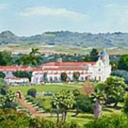 California Mission San Luis Rey Poster by Mary Helmreich