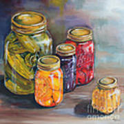 Canning Jars Poster by Kristine Kainer