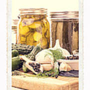 Canning Kitchen Art Poster by Edward Fielding
