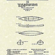 Canoe 1963 Patent Art Poster by Prior Art Design