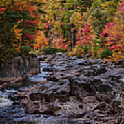 Canyon Color Rushing Waters Poster by Jeff Folger