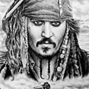 Captain Jack Sparrow 2 Poster by Andrew Read