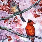 Cardinals  Poster by Zaira Dzhaubaeva