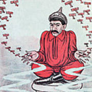 Caricature Of Stalin Poster by Adrien Barrere