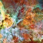 Carina Nebula - Interpretation 1 Poster by The  Vault - Jennifer Rondinelli Reilly