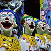 Carnival Clowns Poster by Kaye Menner