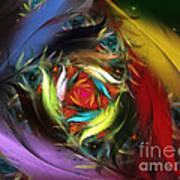 Carribean Nights-abstract Fractal Art Poster by Karin Kuhlmann