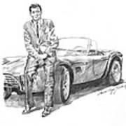 Carroll Shelby And Csx 2000 Poster by David Lloyd Glover