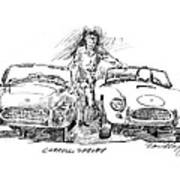 Carroll Shelby And The Cobras Poster by David Lloyd Glover