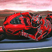 Casey Stoner On Ducati Poster by Paul Meijering