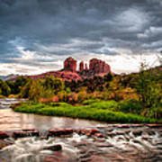 Cathedral Crossing Red Rock Poster by Linda Pulvermacher