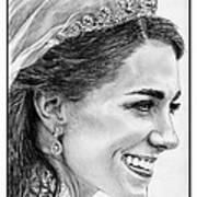 Catherine - Duchess Of Cambridge In 2011 Poster by J McCombie