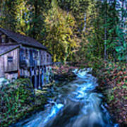 Cedar Creek Grist Mill Poster by Puget  Exposure