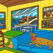 Cedar Key Snoozer Poster by Mike Segal