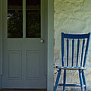 Chair On Farmhouse Porch Poster by Olivier Le Queinec