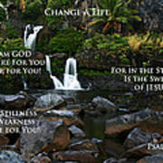 Change A Life Poster by Ronald Suffron