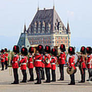 Changing Of The Guard The Citadel Quebec City Poster by Edward Fielding
